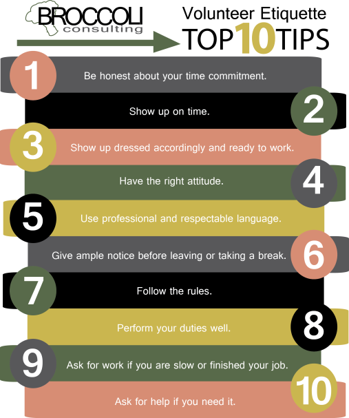 Volunteer Etiquette Top 10
