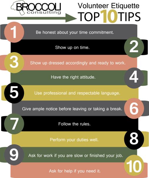 Volunteer Etiquette Top 10